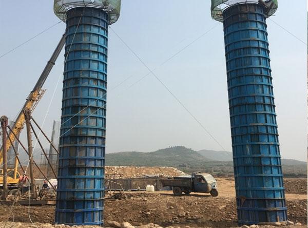 太行山公路圆柱桥墩钢模板