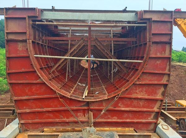 毗河引水工程渡槽钢模板